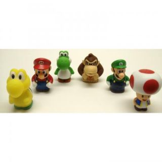 Super Mario Brothers 6 Piece Bath Play Set w Mario Luigi Koopa Troopa
