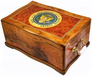 George w Bush Cuban Crafters George w Bush Cigar Humidor Very Rear