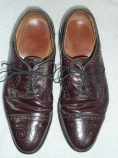 Mens Allen Edmonds Sanford Burgundy Dress Shoes 8 D