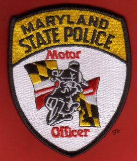 Maryland State Police Motorcycle Officer Police Patch