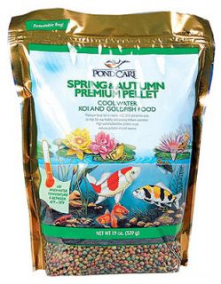 Pond Care 180A 19 oz Spring Autumn Cool Water Koi Fish Food Pellets