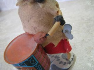 Louis Marx 1965 Drumming Mad Crazy Indian Wind Up Toy