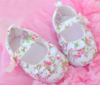 White Pink Mary Jane Kids Toddler Baby Girl Shoes 0 18 Months