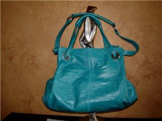 Francesco Biasia Aqua Leather Bag Tote Purse Zip Handbag Retails $568