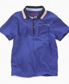NEW GUESS Kids Shirt, Boys Back Applique Short Sleeved Polo
