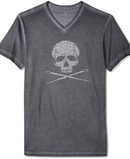 Marc Ecko Cut & Sew T Shirt, Studded Skull and Needles Graphic T Shirt
