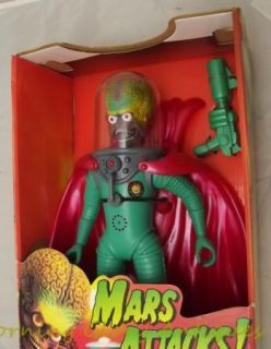 Mars Attacks 12 Martian Supreme Ambassador Never Removed from Box