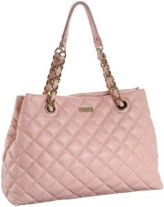 Kate Spade Maryanne Gold Coast Pink Shimmer Leather Handbag Purse RARE
