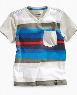 DKNY Kids Shirt, Boys Totem V Neck Tee   Kids Boys 8 20