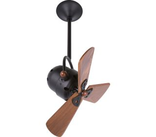 Matthews BD BK WD, Bianca Direcional Black 13 Ceiling Fan with Wall