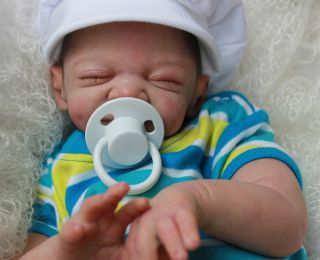 Reborn Newborn Baby Boy Doll Mathilda Sculpted by Ulrike Gall