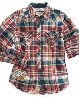 GUESS Kids Shirt, Boys Booth Sidewinder Woven Shirt   Kids Boys 8 20