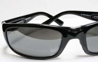 Auth Maui Jim Sunglasses Stingray Gloss Black Frame Grey Lens 103 02
