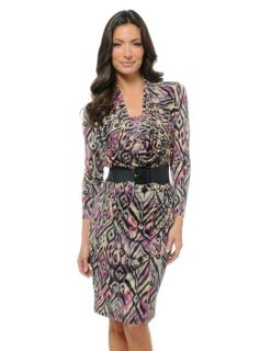 Curations with Stefani Greenfield Cowl Dress w Belt $150 Blk S