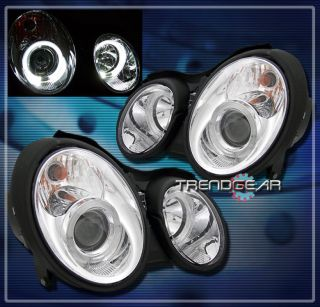 98 02 Mercedes Benz W208 CLK Projector Headlight Chrome