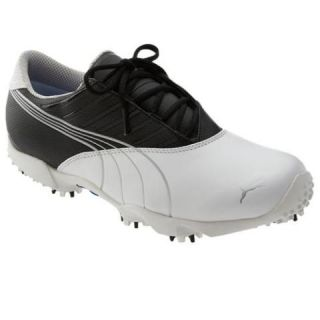New Puma Mens Course Saddle Wide Golf Shoes White Black