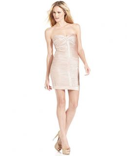 BCBGMAXAZRIA Dress, Strapless Bandage Sheath   Womens Dresses
