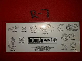 Ford Fusion Mercury Milan Rotunda Essential Service Repair Tool Kit