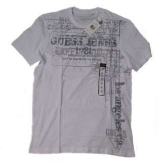 Guess Men T Shirts Hampton Grafic Tee R Neck Short Sleeve Cotton Was $