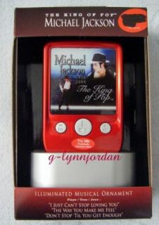 Michael Jackson Musical  Player Ornament New