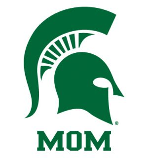 Michigan State Spartans Mom Clear Vinyl Decal Car Truck Sticker MSU