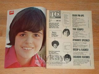 16 David Cassidy Dark Shadows Michael Jackson 5 The Partridge Family
