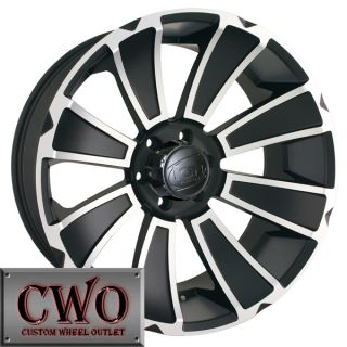 22 Black ion 180 Wheels Rims 6x139 7 6 Lug Chevy GMC 1500 Tundra Titan
