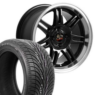17 x 9 10 Black Fits Mustang ® Wheels Rims Tires 4 Lug