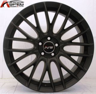 18 Matt Black Rim Wheels 5x100 VW Jetta Passat Golf