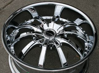 Strada Sole 22 Chrome Rims Wheels Acura MDX RDX
