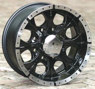 16 inch Black Helo Wheels Rims Chevy Dodge GM 8 Lug