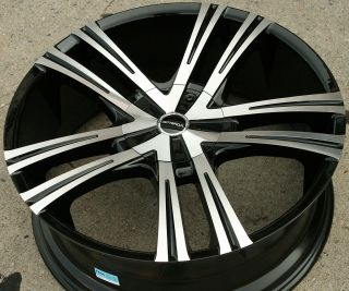 PRIMO 292 22 BLACK RIMS WHEELS CHRYSLER ASPEN DAKOTA / 22 X 8.5 5H