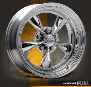15x10 Chrome Vintage Hot Rod Ford GM Wheels