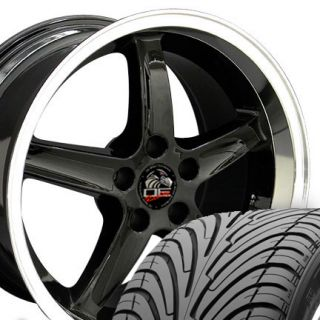 18 9 10 Black Cobra Deep Wheels ZR Tires Rims Fit Mustang® GT 94 04