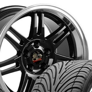 10 Black 10th Anniversary Wheels ZR Tires Rims Fit Mustang® GT 94 04
