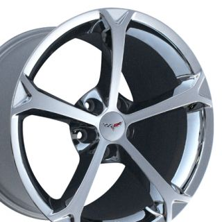 Chrome Corvette Grand Sport Exchange Rims Fit Corvette C6 Z06