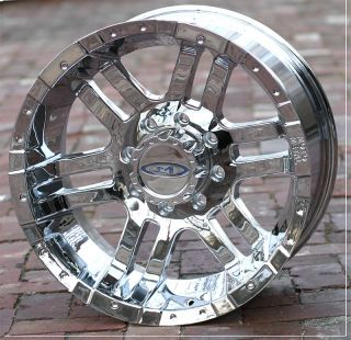 17 inch Chrome Moto Metal 951 Wheels Rims Chevy GMC Dodge RAM 2500