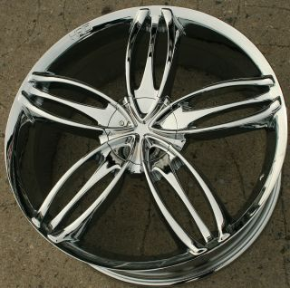 HPD Starlet 22 Chrome Rims Wheels Chrysler 300 300C AWD 22 x 8 5 5H