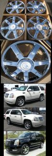 Chrome Finish Wheels Set for Cadillac Escalade Tahoe Yukon Rims