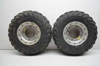 Polaris Predator 500 Front Wheels Beadlock Rims & 21 Trail Wolf Tires