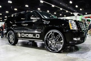 26 Diablo Wheels and Tires Pkg for for Chevy Ford Dodge RAM Rim Tahoe
