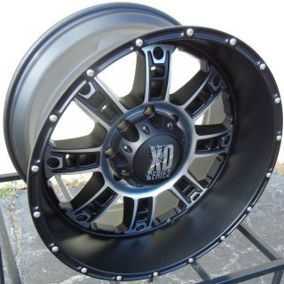 20 New Black XD Riot Wheels Rims Chevy Silverado GMC Dodge 2500 3500
