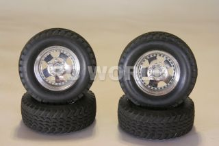 RC 1 10 Truck Tamiya Jeep Wrangler Rims Wheels Tires Highlift Truck