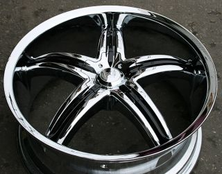 Viscera 770 20 Chrome Rims Wheels Honda Accord 03 Up