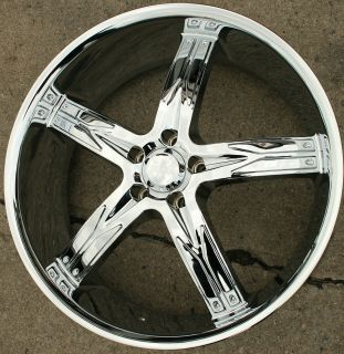Devino Flawless 762 22 Chrome Rims Wheels Ford Escape 02 Up 22 x 8 5