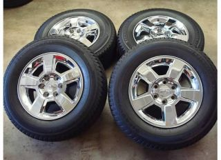 18 Chevy SILVERADO Tahoe CHROME Wheels RIMS TIRES OEM 2011 GMC Yukon