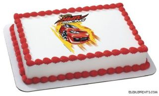 Hot Wheels Racing Edible Image Icing Cake Topper