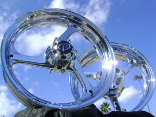 Sportbike Harley Chrome Motorcycle Wheels Rims Mags