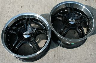 RVM 930 19 Black Rims Wheels Nissan 350Z Staggered