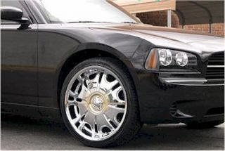 Chrysler 300 Dodge Charger 22 Chrome Akuza Wheels